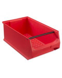 Box 5.1 - T500 x B300 x H200 mm - rot mit Griffstange