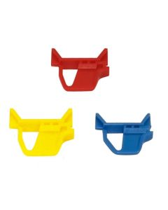 Schiebeschnappverschluss, farbig (Pack.=4 Stück) für Eurobehälter Auflagedeckel