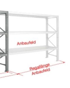 Anbauregal WS H2000 x B3000 x T1000 mm (4 Fachböden)