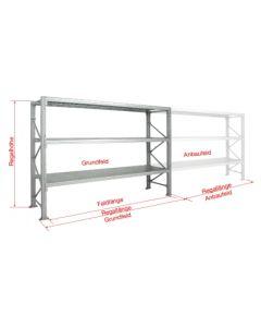 Grundregal WS H2000 x B2700 x T1000 mm (4 Fachböden)